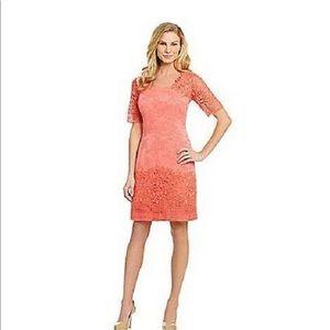 Antonio Melani Sheath Dress coral pink size 6